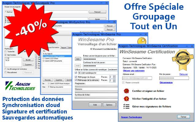 Offre spéciale : Suite complète sécurité et gestion des données