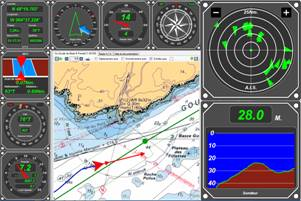 StarNavPilot is not only a navigation software, but a full-sized multifunction-display