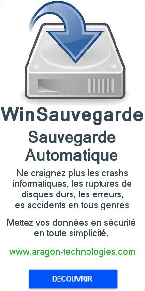 WinSauvegarde logiciel de sauvegarde automatique rapide et sans limite de volume.