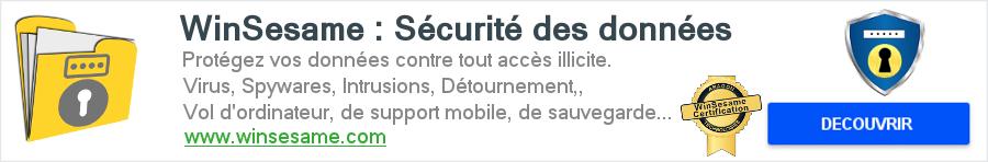 WinSesame sécurité informatique protection des données chiffrement certification.